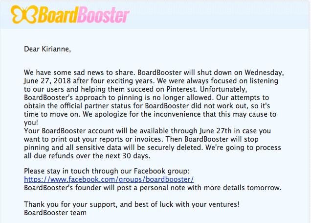 Boardbooster Shut Down Email with Work It Women