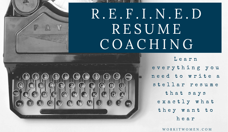 R.E.F.I.N.E.D Resume Coaching Email Coaching Featured Image