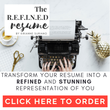 refine and create a stunning resume ready to go for an interview