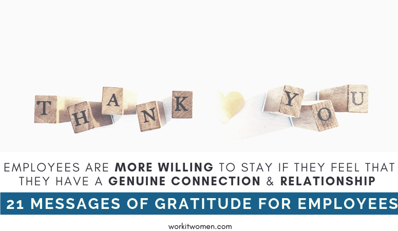 21 Messages of Genuine Gratitude for Employees by work it women featured image