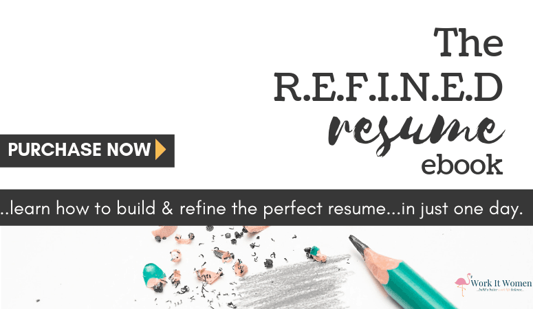 The Refined Resume eBook by work it women featured image
